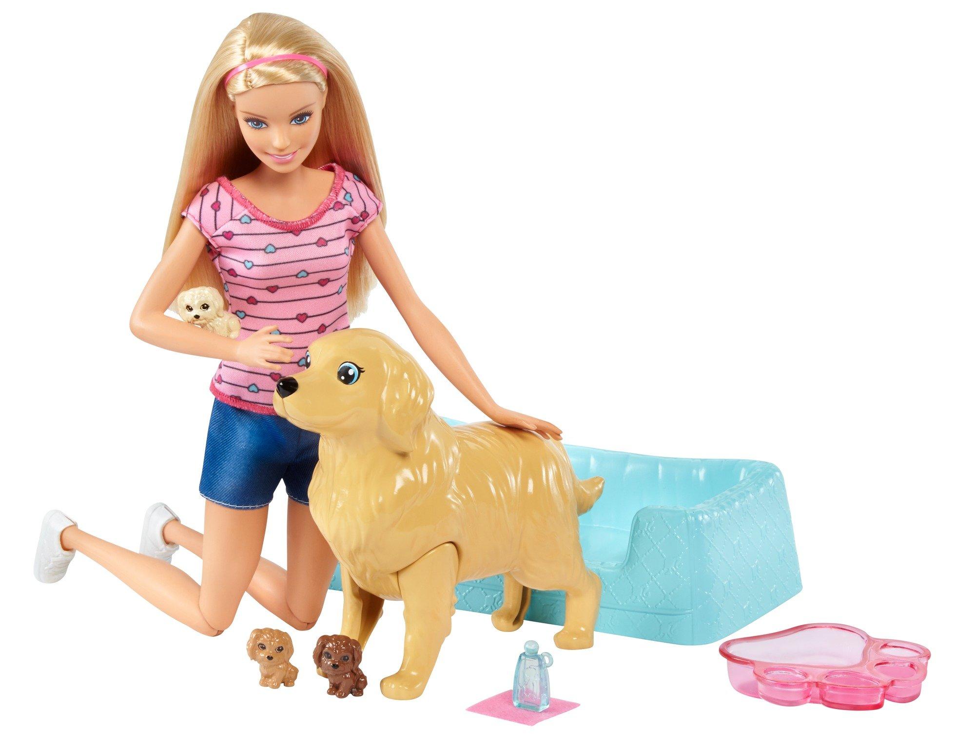 Barbie Newborn Pups Doll, Blonde