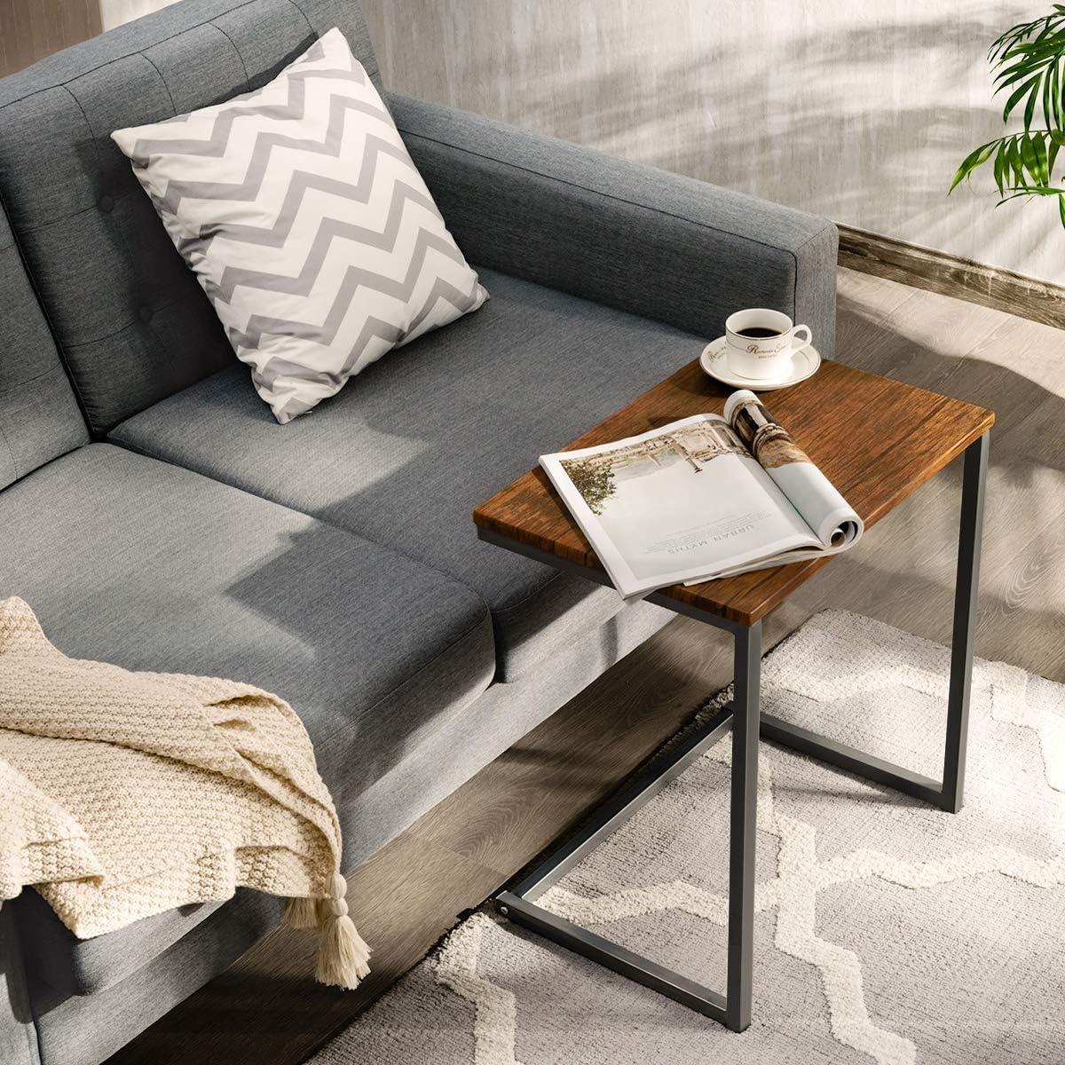 Tavolino da Salotto Moderno Ideale per Domestico e Ufficio COSTWAY Set di 3 Tavolino da caff/è a Diversi Dimensioni