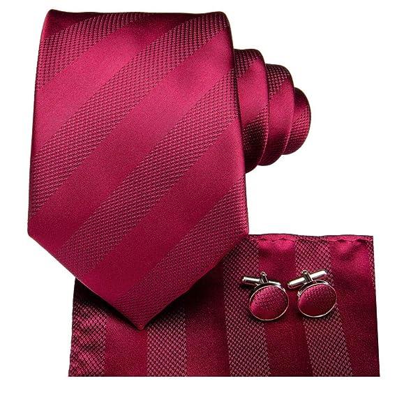 CDBGPZLD Hombres Corbata Roja Corbatas De Boda De Seda Para ...