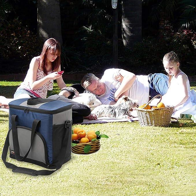 Huntforgold 25L K/ühltasche Isoliertasche K/ühlbox Picknicktasche f/ür Camping Picknick Outdoor Reisen Strand Grillfeste