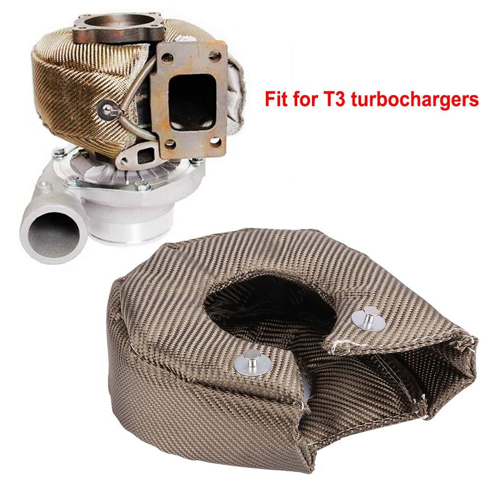 Coperta Turbo,Scudo Termico Turbo Isolante Coperchio della Turbina in Fibra di Titanio Turbocompressore Fissaggio Molle Riscaldamento Barriera T4
