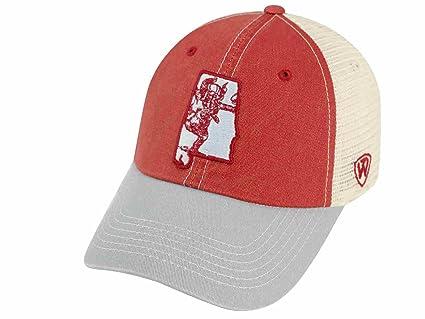 6811c3ab54cedd Image Unavailable. Image not available for. Color: Alabama Crimson Tide TOW  United Mesh Vintage Logo Adj Snapback ...
