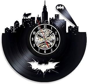 HOME ART DECOR Batman Superhero Vinyl Record Clock Gift Unique Gift Modern Handmade Gift Great Gift Idea Birthday Gift for Her Him Kids Adults