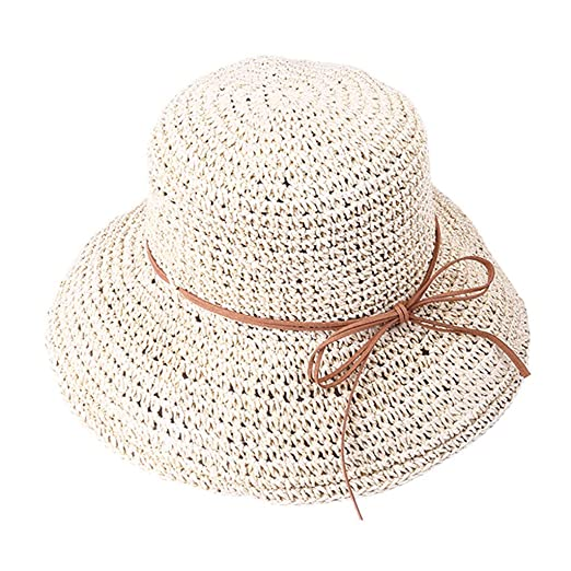cb27fecc Toponly Womens Spring Summer Beach Cap Straw Fisherman Panama Hat Fedora  Summer Beach Sun Hat Foldable