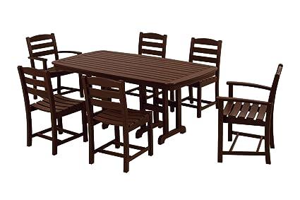 POLYWOOD PWS131 1 MA La Casa Café 7 Piece Dining Set, Mahogany
