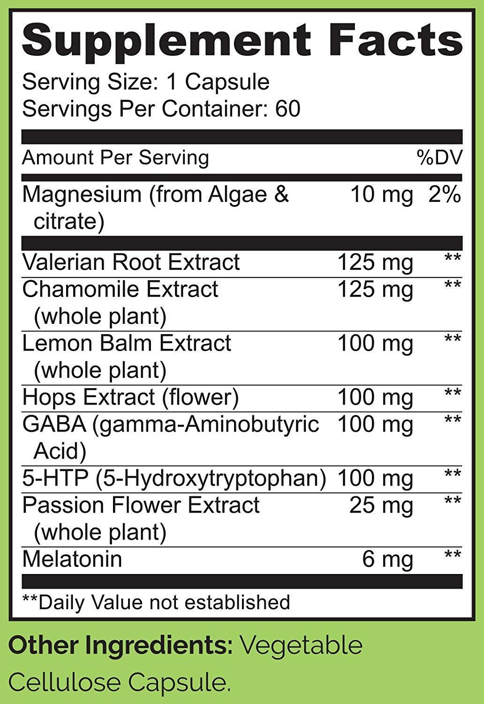 Amazon.com: NATURELO Sleep Formula - with Valerian, Chamomile, Passion Flower, Lemon Balm, Hops & Melatonin - Best Natural Sleeping Aid - Fast Dissolve - 60 ...