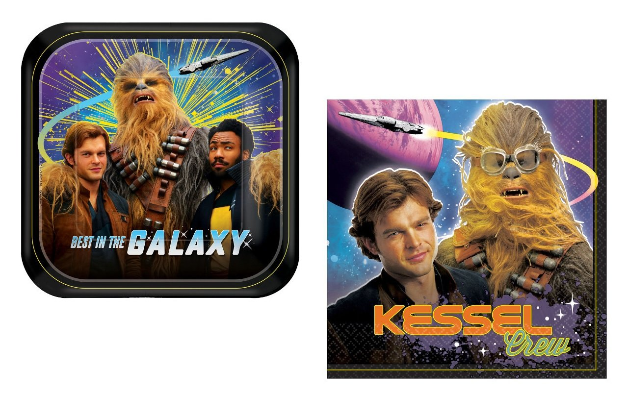 Han Solo Party Supplies Bundle for 16: From New Star Wars Movie Solo: Plates and Napkins