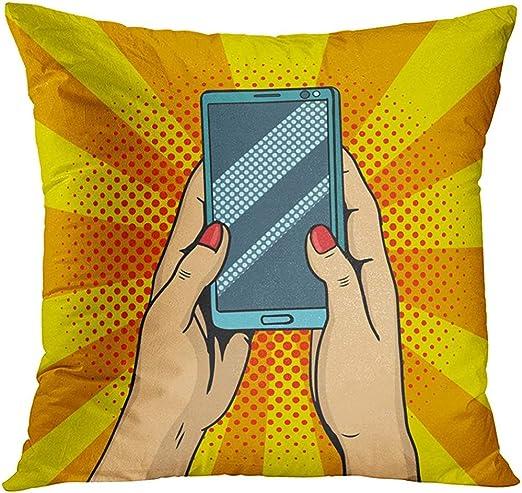 Funda de Almohada Throw Pillow Manos en línea Sosteniendo ...