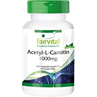 Acetyl-L-carnitine 1000mg - for 2 months - VEGAN - HIGH DOSAGE - 60 capsules - ALC
