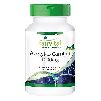 Acetil-L-carnitina 1000 mg - para 2 meses - VEGAN - ALTA DOSIS