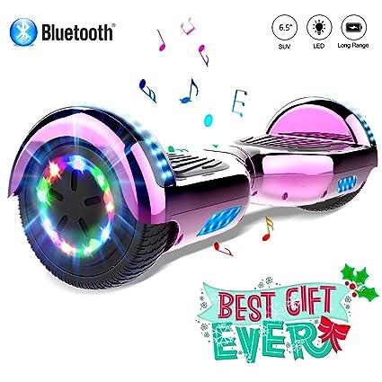 COLORWAY Hover Scooter Board 6.5 Pulgadas con Ruedas de LED, Patinete Eléctrico con Bluetooth de 700W Auto-Equilibrio