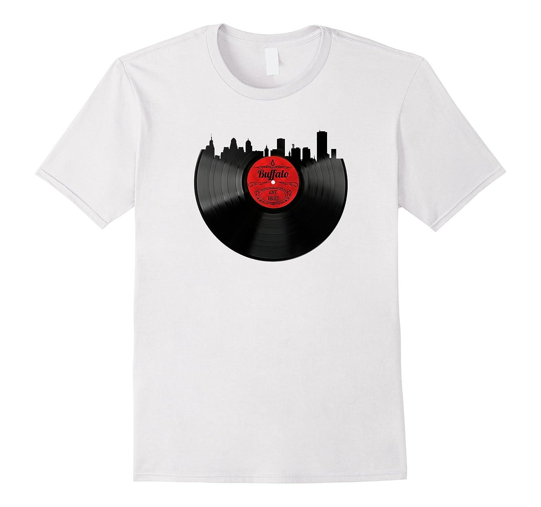 Buffalo New York Shirt Ny Vintage Skyline Vinyl Record Tee