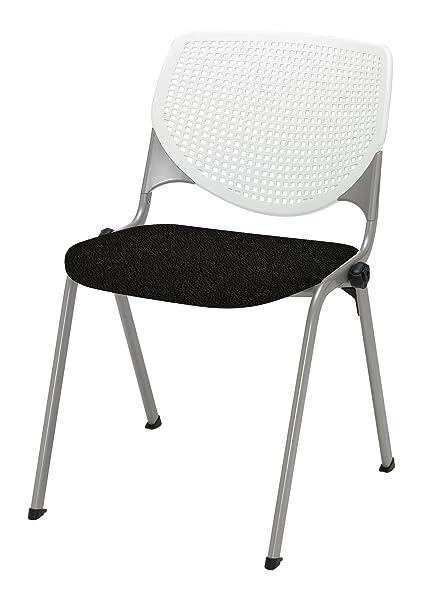 kool furniture. KOOL Poly Stack Chair With Perforated Back, Tuxedo Kool Furniture 0