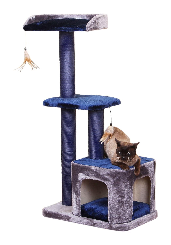 Snug PetPals  PP5473-2016 Cat Tree, 23  x 15  x 45 , Ocean bluee