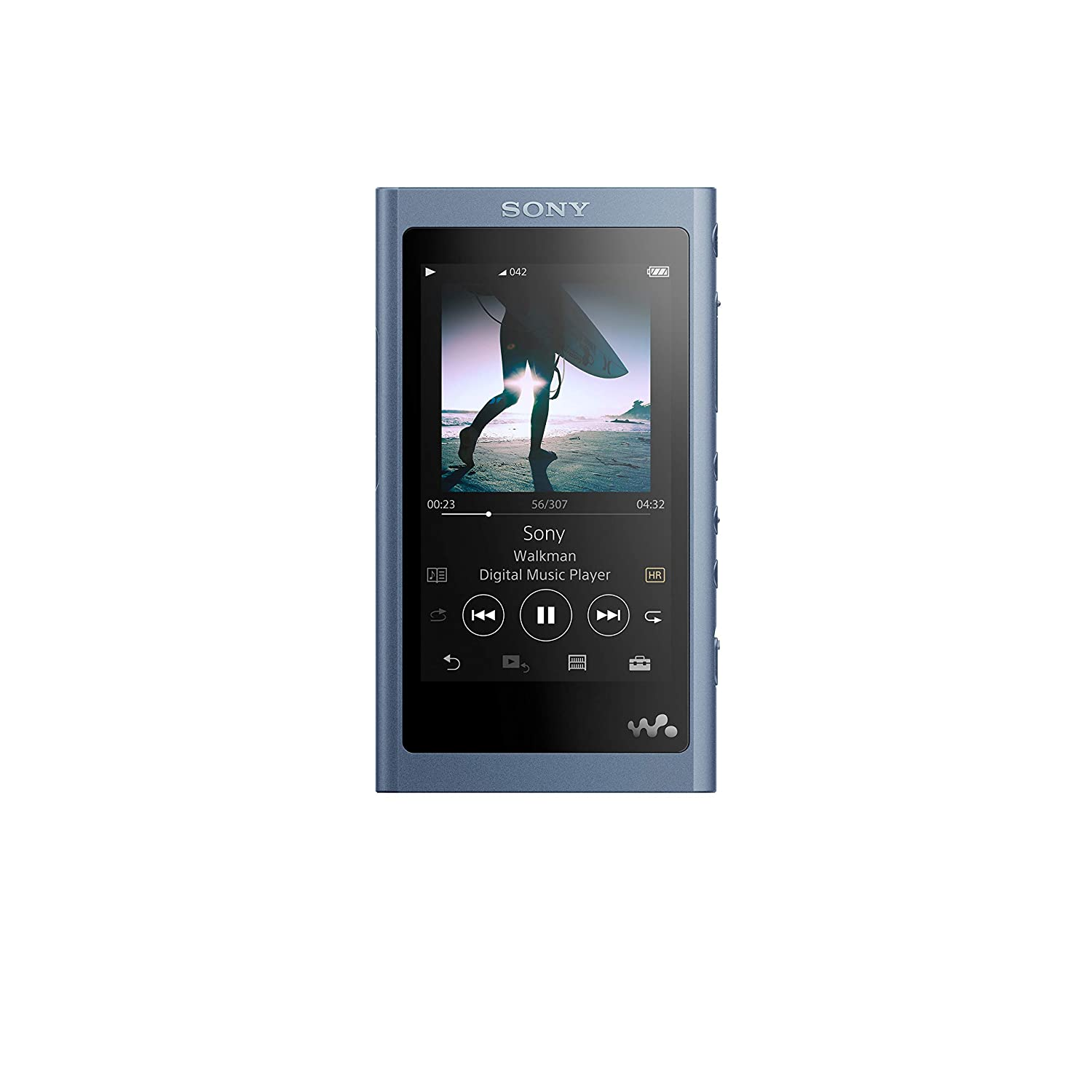 Sony NW-A55L 16GB Walkman Hi-Res Portable Digital Music Player with Touch Screen S-Master HX and DSEE-HX Red