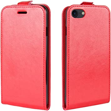adorehouse iPhone 7 / iPhone 8 Funda, Vertical Flip Case Premium PU Cuero Up-Down Open Back Cover [Tarjetero] [Soporte] Billetera Estuche para iPhone 7 / iPhone 8 (Rojo): Amazon.es: Electrónica