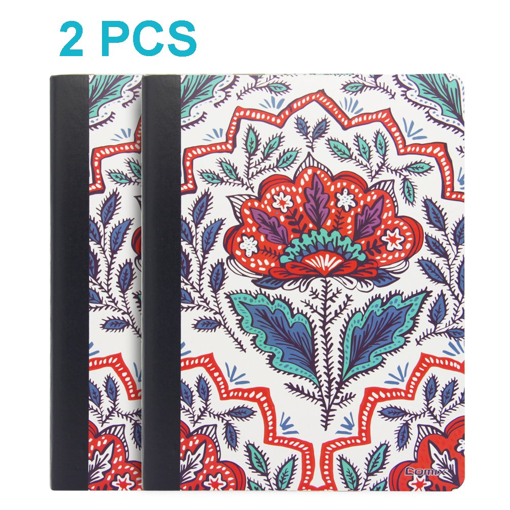 Comix Composition Notebooks,Wide Ruled Paper 9.75'' x 7.5'',100 Sheets(C9000-G 2 Booklets)