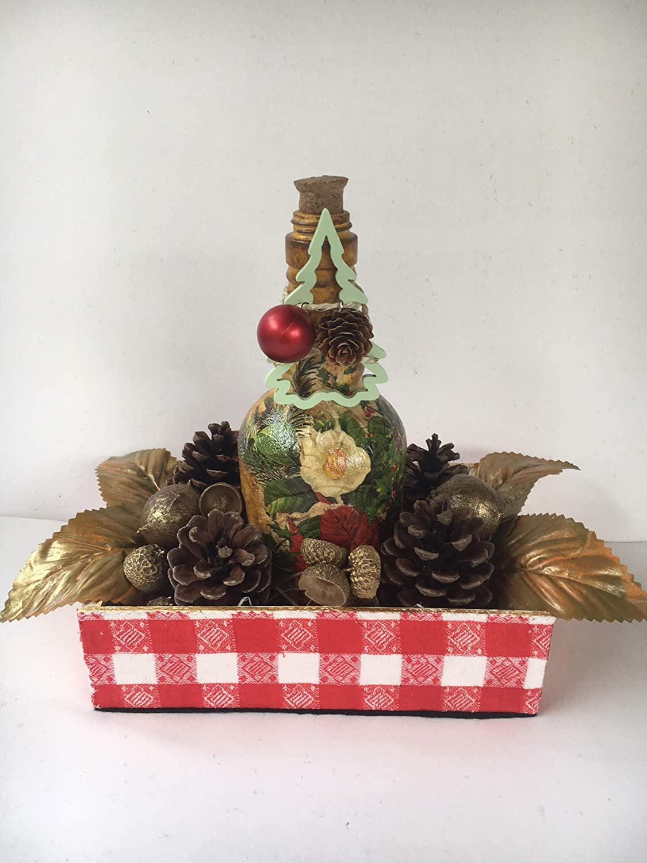 centro de mesa navideño con caja de adornos: Amazon.es: Handmade
