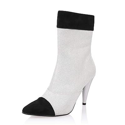 AIIT Women's Fashion Stiletto Mid Heel Ankle Boot Shoe: Shoes