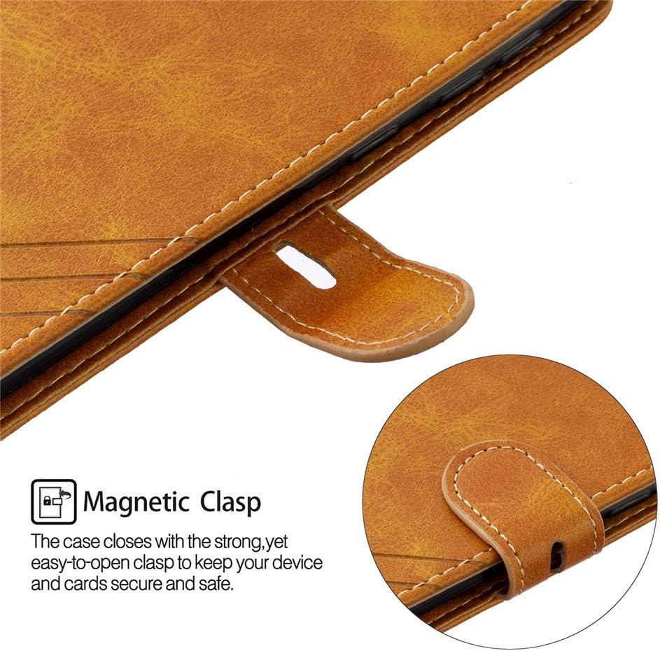 Samsung Galaxy A21 Wallet Case Flip Case with Card Holders Kickstand Premium Leather Solid Color Magnetic Closure Case for Samsung Galaxy A21 Retro Black HX EU Version COTDINFORCA Galaxy A21 Case