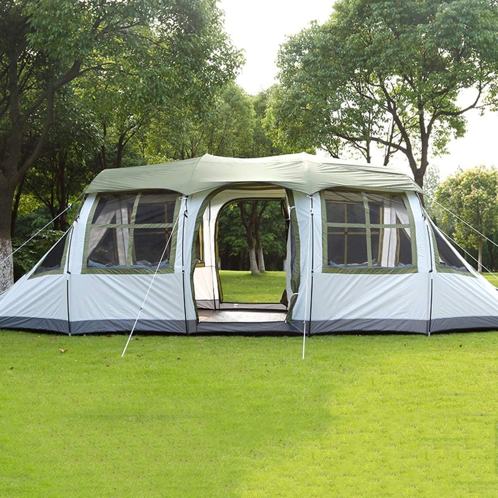 RY Lona RKY Tiendas de campaña, Multi-Persona Gran Espacio a Prueba de Lluvia Equipo de Campo Camping Gran Tienda de campaña (2 Colores) Tiendas de campaña /-/ Green