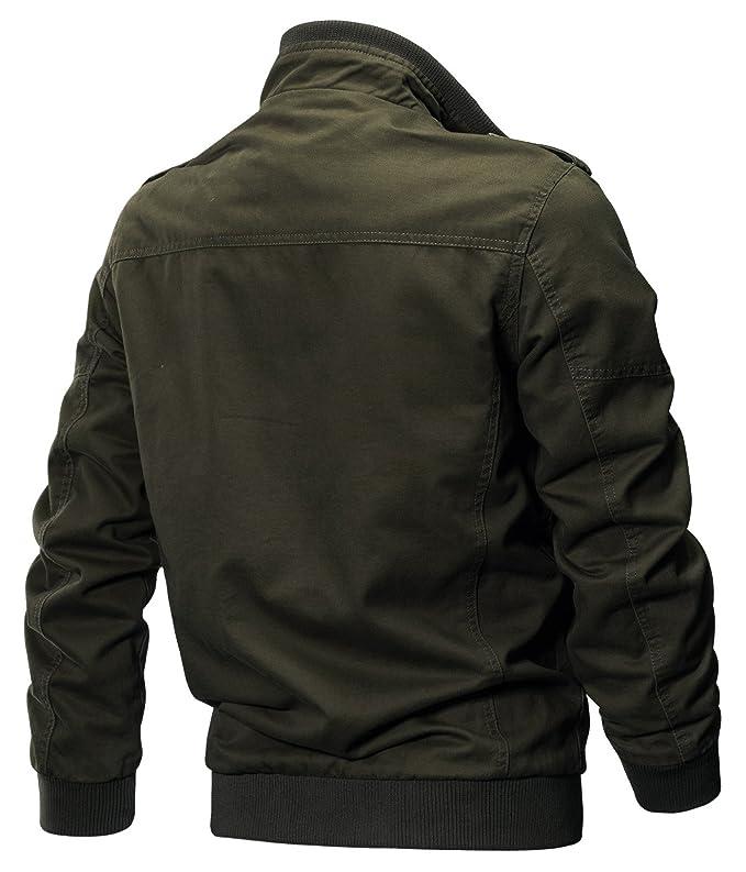 YYZYY Nouveaux Homme Printemps Automne Coton Militaire Veste Voler Bomber Blousons Outdoor Manteaux Multi Poche Mens Cotton Lightweight Jacket