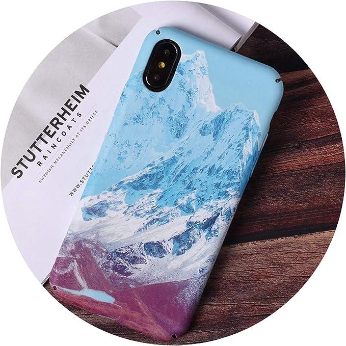 Coque iPhone X 8 7 6 6S Plus Motif Mer for iphone 8 Plus Snow ...