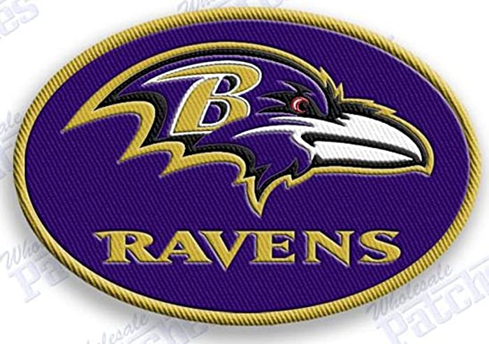 ab9bb4e43e1ac1 Image Unavailable. Image not available for. Color: BALTIMORE RAVENS IRON ON patches  patch ...