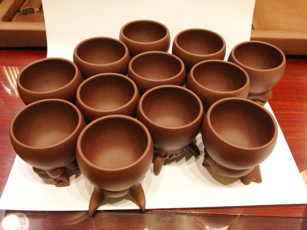 Creative Zisha Cup /Mug ''Animals of the Chinese Zodiac'' (Each Cup 100ml)