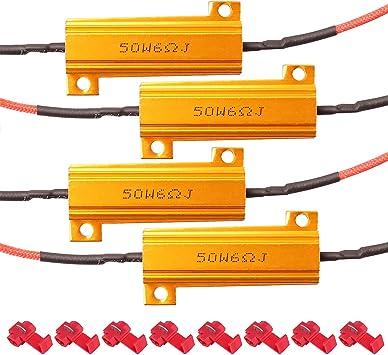 indicateur de clignotant et contr/ôleur de flash Keenso 10 W R/ésistances de charge pour moto avec clignotant