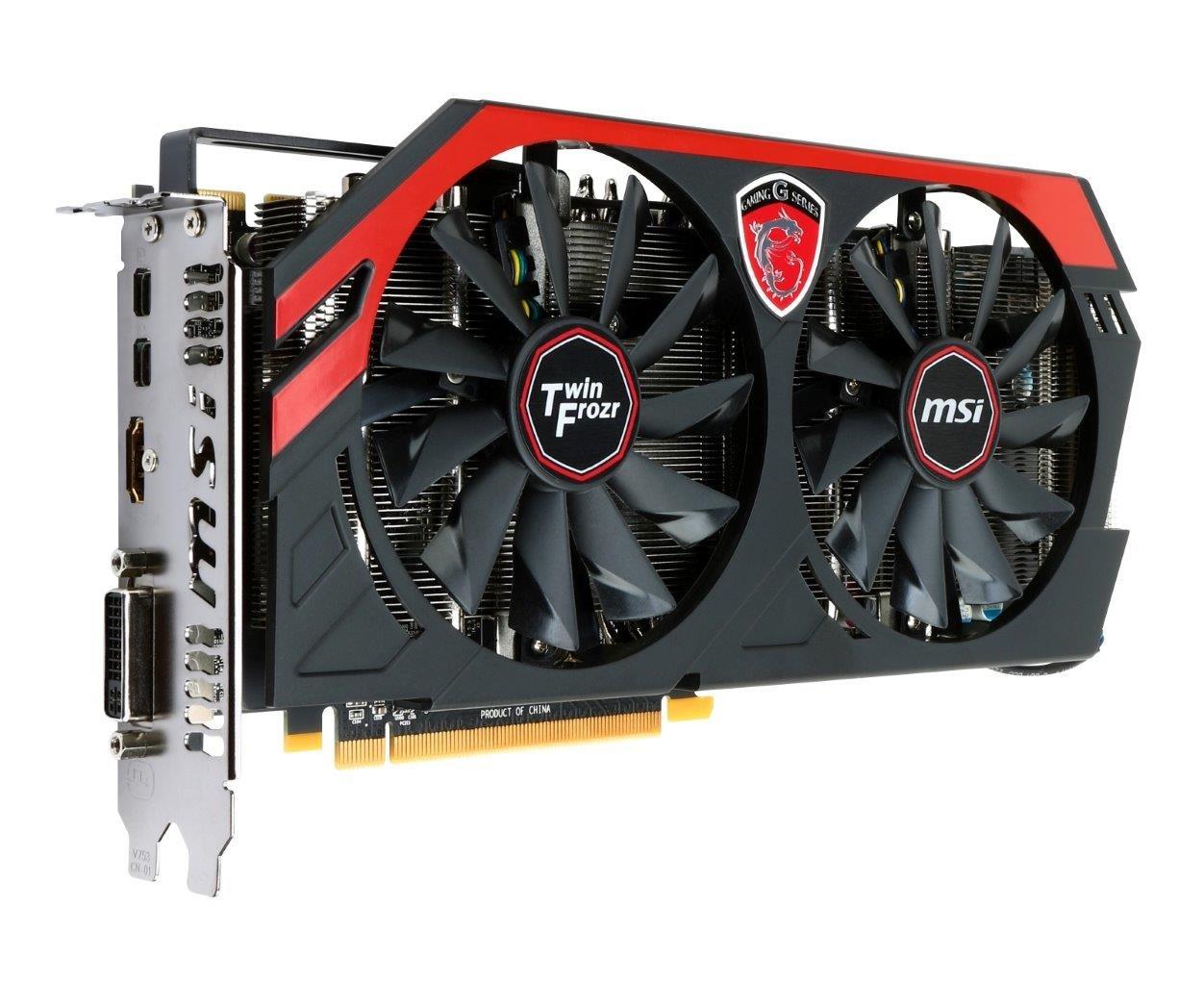 MSI AMD Radeon R9 280X, 3GB GDDR5, PCI Express 3 0 Graphics Card R9 280X  Gaming 3G