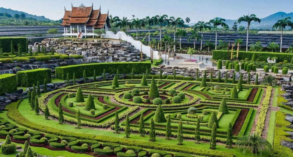 OKOUNOKO 1000 Piezas Puzzles 3D, Jardín Botánico Tropical, Pattaya, Tailandia, para Adultos Niños Personalizado, Decoración para El Juego De Juguetes para El Hogar, Gran Regalo Educativo, 75X50Cm: Amazon.es: Hogar