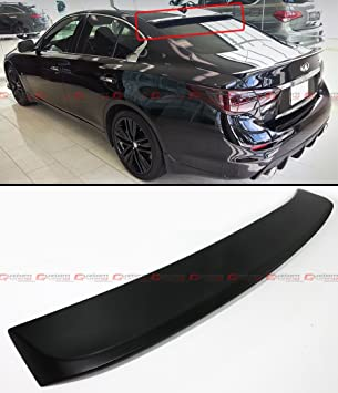 FITS FOR 2014 2018 INFINITI Q50 REAR WINDOW ROOF TOP SPOILER WING  PRIMER  BLACK