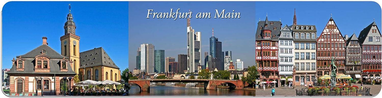 Lesezeichen aus Metall mit gerader Kontur Frankfurt #Ffurt009