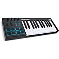 Alesis V25 | 25-Key USB MIDI Keyboard & Drum Pad Controller (8 Pads / 4 Knobs / 4 Buttons)
