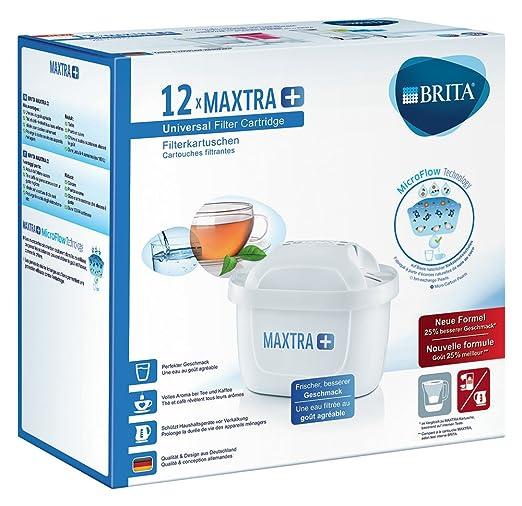 Brita Cartouche Filtrante pour Carafe, MAXTRA+ Haute Performance (Nouvelle Formule) - Pack 12