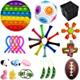 Bestek 30 Pcs Sensory Fidget Toys Set, Stress Relief and Anti-Anxiety Tools Bundle Toys Assortment,Stocking Stuffers for Kids Adults,Party Favors Carnival Prize Classroom Rewards Bag Fillers