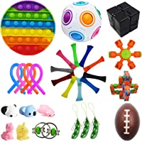 Bestek 30 Pcs Sensory Fidget Toys Set, Stress Relief and Anti-Anxiety Tools Bundle Toys Assortment,Stocking Stuffers for…