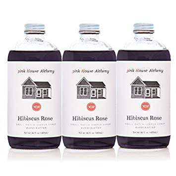 Amazon Pink House Alchemy Hibiscus Rose Simple Syrup 3 16