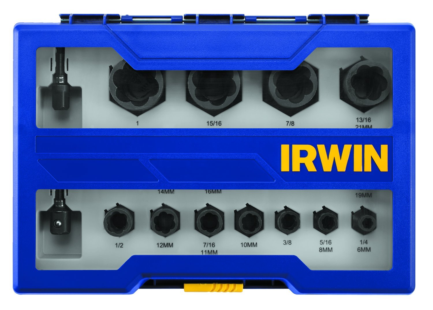 Bolt-Grip 1859152 Irwin Tools Impact Performance Series Bolt Grip Bolt Extractor with 19-Piece Set with 1/4-Inch Hex Adapters by Irwin Tools (Image #1)