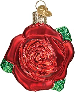 Old World Christmas RED Rose Ornament, Multi
