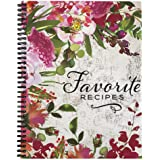 """Softcover Favorite Recipes 8.5"""" x 11"""" Spiral Recipe Notebook/Journal, 120 Recipe Pages, Durable Gloss Laminated Cover…"""