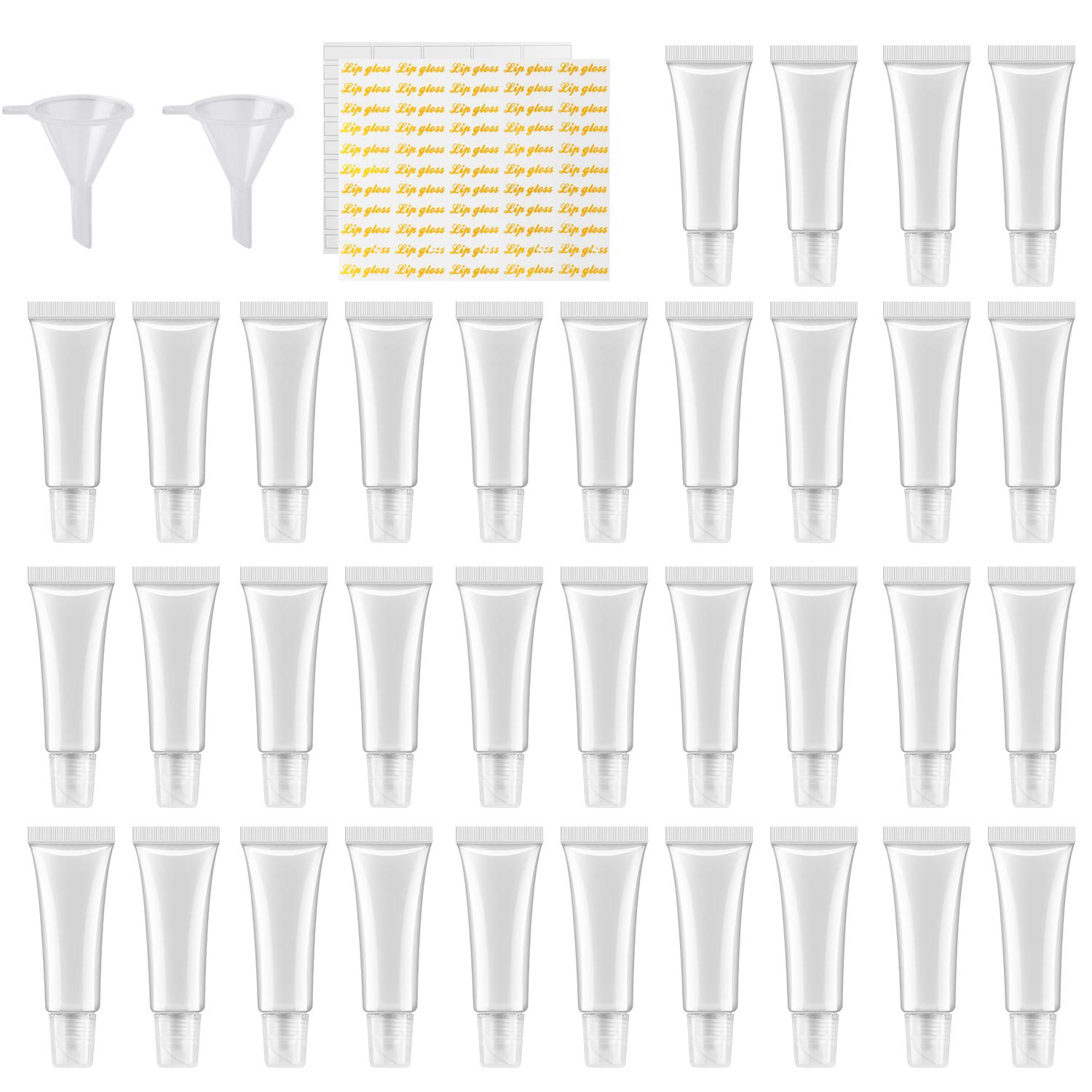 110Pcs 10ml Empty Tubes Lip empty lip gloss containers for Lip Gloss Balm Cosmetic by HRLORKC