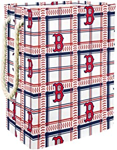 DJROW Clothes Hamper Red Sox Plaid Pattern Large Storage Bin Storage Basket Clothes Laundry Hamper Toy Storage Bin