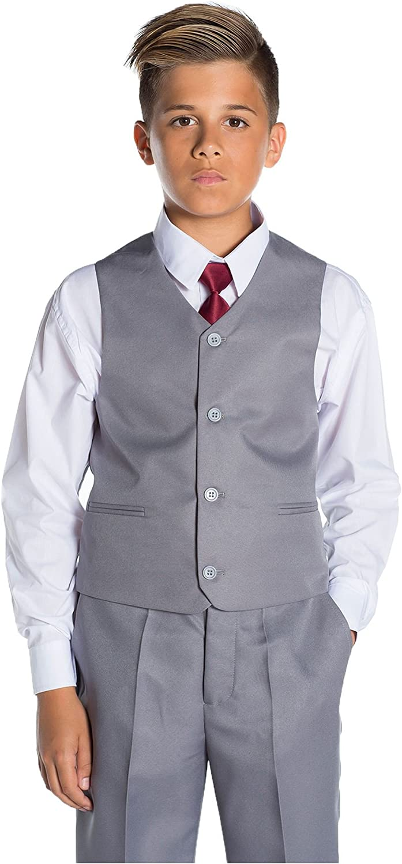 Shiny Penny Boys Formal 5 Piece Suit Set with Shirt /& Vest