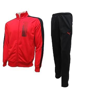 Puma - Chándal - chaqueta - para hombre rojo rosso S: Amazon.es ...
