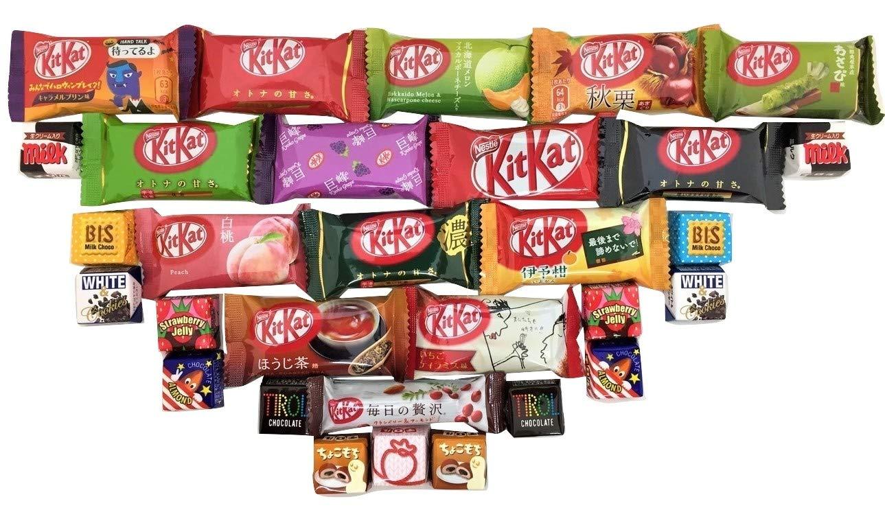 Japanese Kit Kat & Tirol 30 pc selection DIFFERENT FLAVORS assortment
