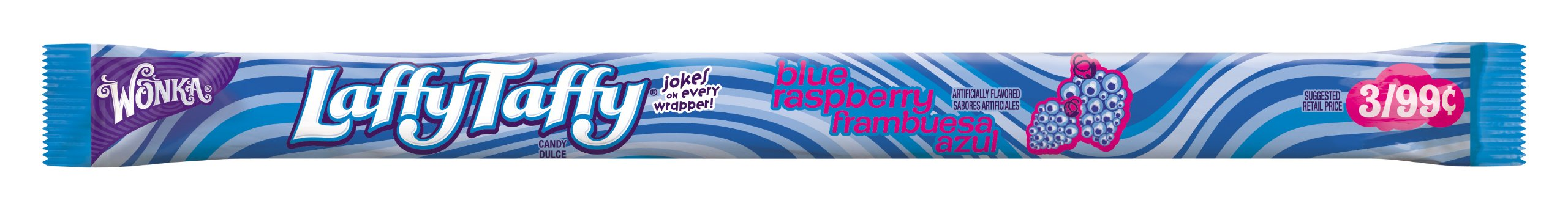 Wonka Laffy Taffy Rope, Wild Blue Raspberry, 0.81-Ounce Packages (Pack of 96) by Laffy Taffy