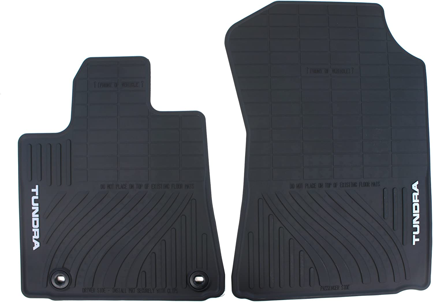 Toyota Tacoma 2012-2013 Double Cab Black All Weather Rubber Floor Mats OEM NEW