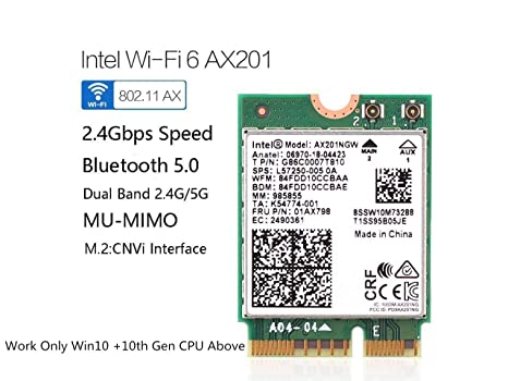 Amazon.com: AX201 Network card,Dual Band 2400Mbps Wireless ...